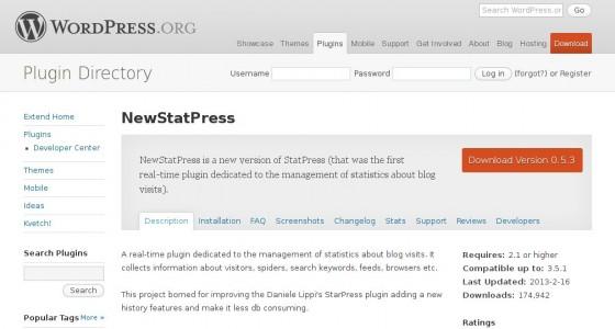 http://wordpress.org/extend/plugins/newstatpress/