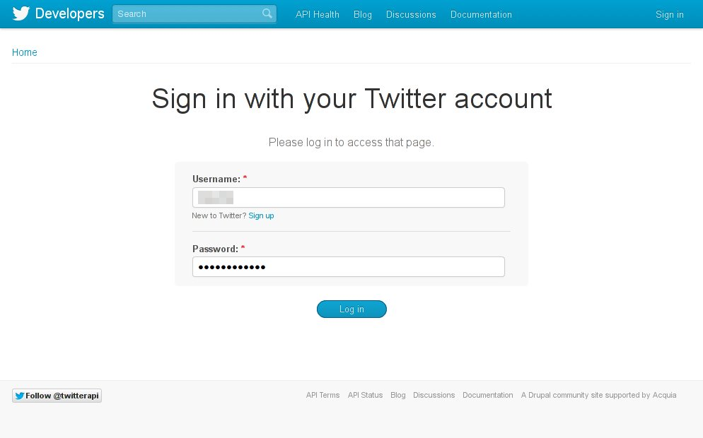 Sign in with your Twitter account