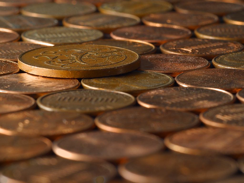 Free Stock Photo of Pennies