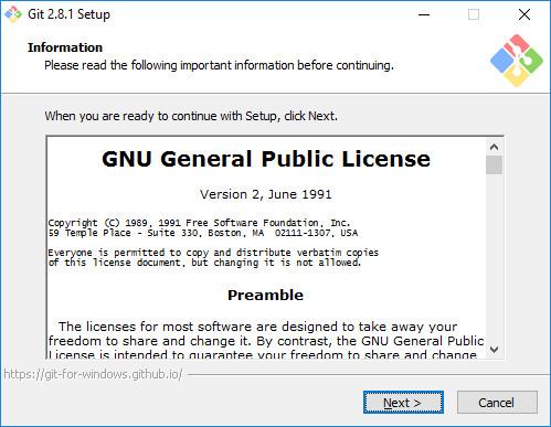 Git 2.8.1 Setup